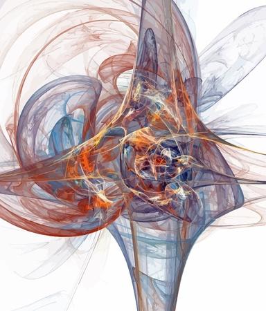 Illustratie van digitale fractal Stock Illustratie