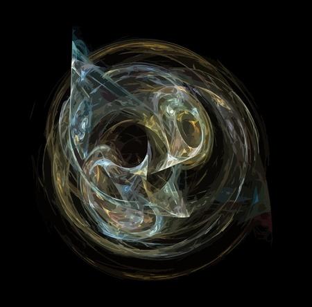 Vector Illustration of digital fractal