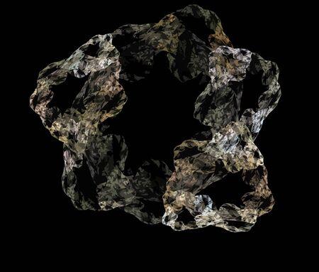 fractality: Vector Illustration of digital fractal