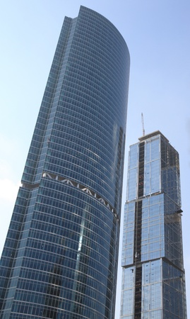 skyscraper develop on sky background at day photo