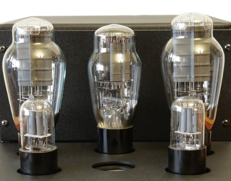 vacuum tube amplifier with 300B triodes Stock Photo - 11658638