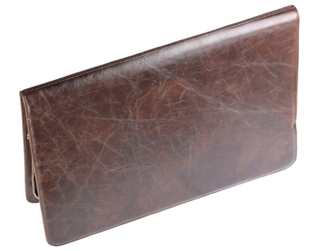leather crocodilian notebook cover isolated Stock Photo - 11754715