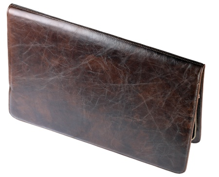 leather crocodilian notebook cover isolated photo