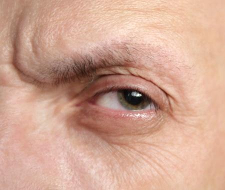 one eye of alone man