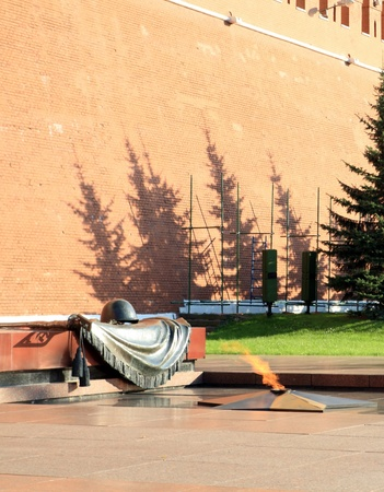 russian Kremlin eternal flame post photo