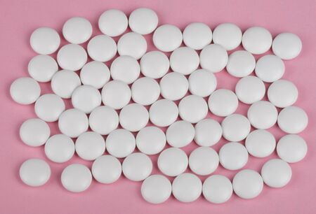deleterious: white pill on pink background