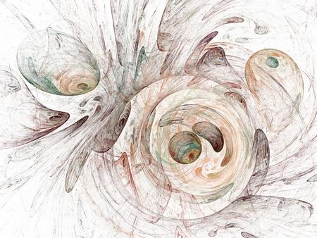 digitale fractal op een witte achtergrond Stockfoto