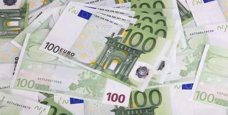 europe euros banknote of hundreds  photo