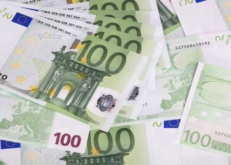europe euros banknote of hundreds Stock Photo - 12835193