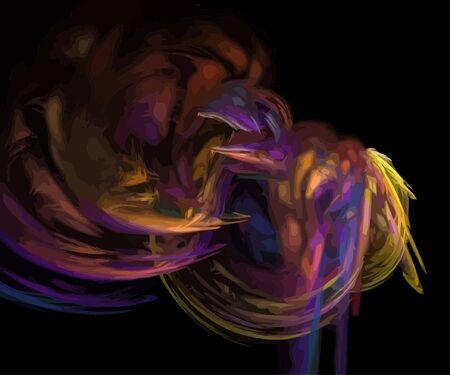 Vector Illustration of digital fractal Stock Vector - 12952121