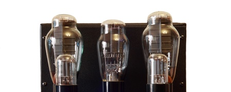 vacuum tube amplifier with 300B triodes photo