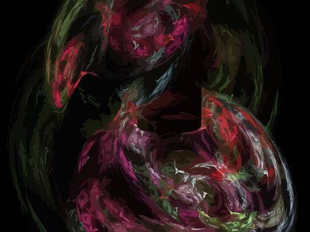 Vector Illustration of digital fractal Stock Vector - 13170775