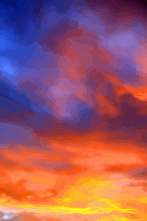 sunset sky at summer vector Vector