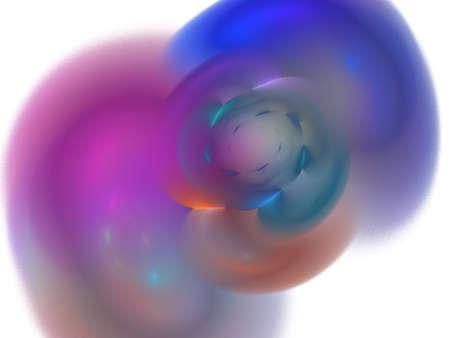 digital fractal on white background Stock Photo - 13381209