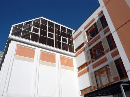 schoolhouse: schoolhouse at dry sunny day