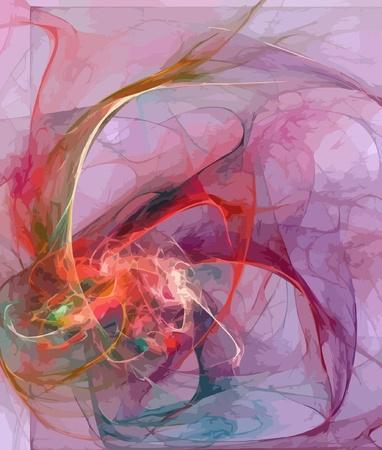 Illustration of digital fractal Vector