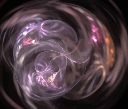 Vector Illustration of digital fractal Vector