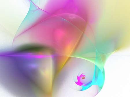 digital fractal on white background photo