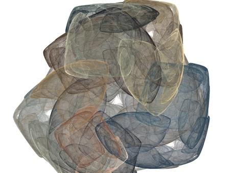 digital fractal on white background Stock Photo - 13724997