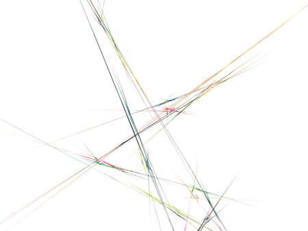 digital fractal on white background Stock Photo - 13724637