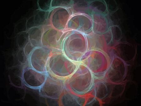 Vector Illustration of digital fractal Stock Vector - 13891566