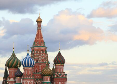 blessed Basil cathedral at evening Stock Photo - 14049922