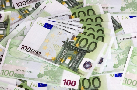 europe euros banknote of hundreds  photo
