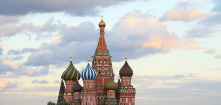 blessed Basil cathedral at evening Stock Photo - 14108645