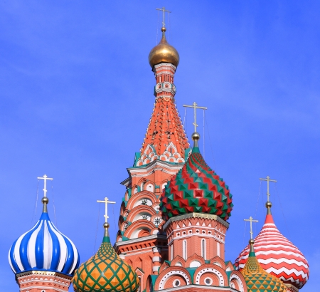 synod: blessed Basil cathedral in moscow close up Stock Photo