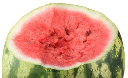 one cutted watermelon isolated photo