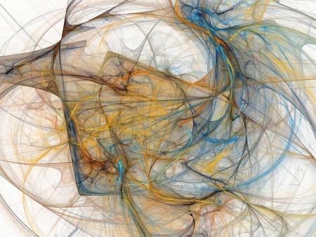 digitale fractal op wit Stockfoto