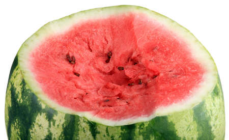 cutted: one cutted watermelon isolated Stock Photo