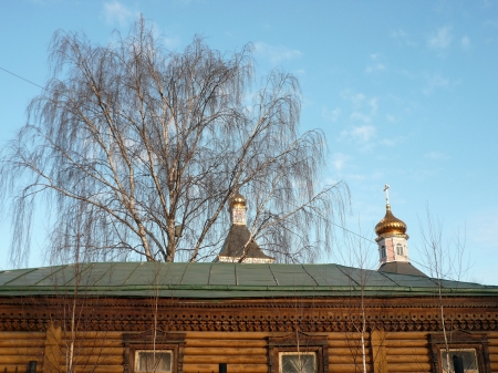 wood temple bogorodskiy at day photo
