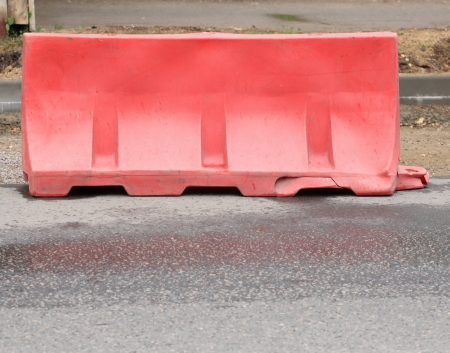 restrictive block on road at day Stock Photo - 14540097