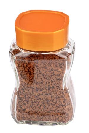 pot van instant koffie geà ¯ soleerd Stockfoto