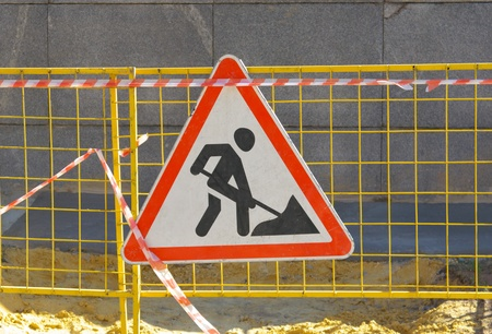road works sign photo