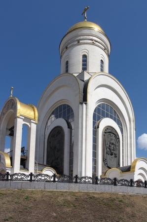 ensemble: church in the daytime Stock Photo