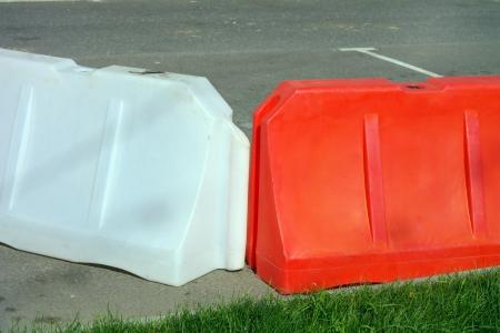restrictive block on road photo