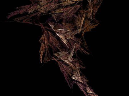 line artwork: digital fractal