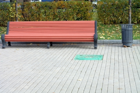 bench  in park photo