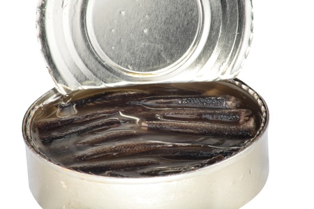 beheading: canned fish in tin