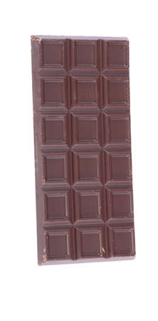 bar of  brown chocolate isolated photo