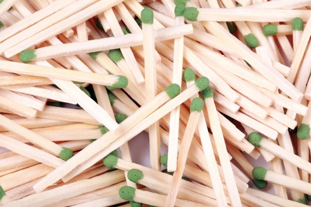 many scattering of matches photo