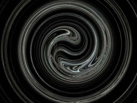 Digital Fractal on Black photo