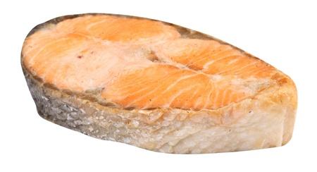 Steak of Salmon Isolated Stock Photo - 18303092