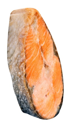 Steak of Salmon Isolated photo