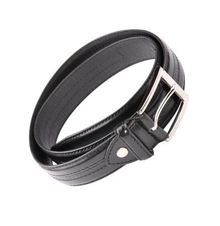 Leather Belt Strap Isolated photo