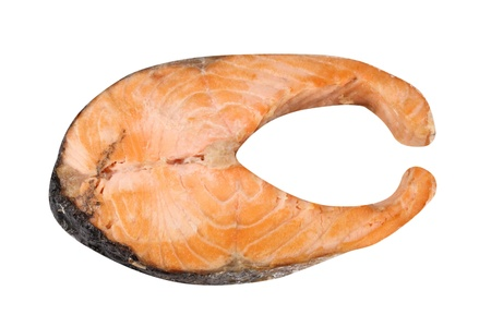 Steak of Salmon Isolated Stock Photo - 18912401