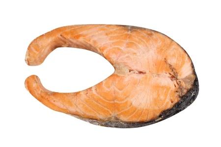 Steak of Salmon Isolated Stock Photo - 18974629