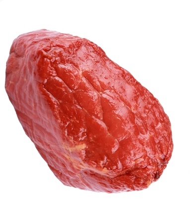 Piece of Boiled and Smoked Meat Isolated photo